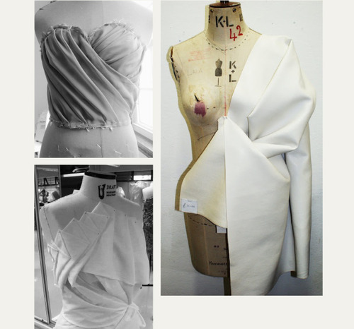 SOURCE: THE CUTTING CLASS -http://thecuttingclass.com/post/92055360443/draping-and-moulage